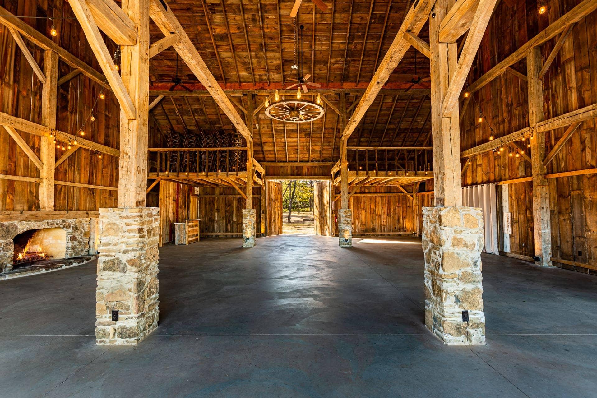 Spacious Barn Interiors in Esperanza Ranch | Oklahoma