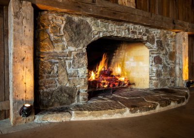 Large Fireplace in the Barn at Esperanza Ranch