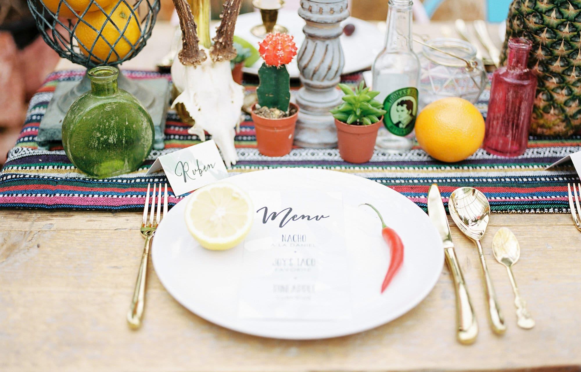 Wedding Styled Table - Cinco De Mayo Style